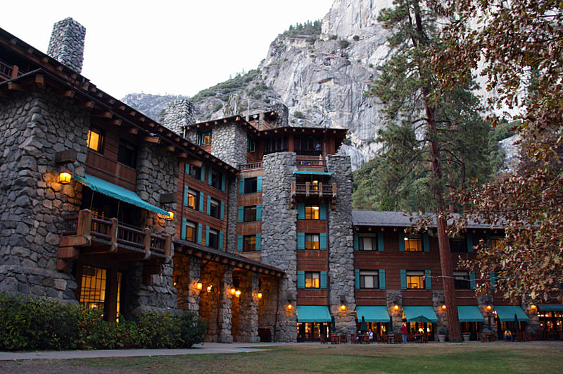 The grand Ahwahnee Hotel