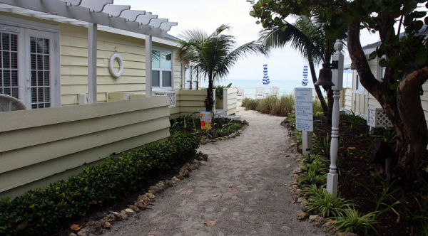Follow the sandy path