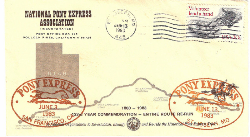 Pony Express Letter 1983