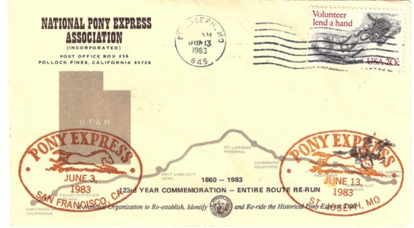 Pony Express Letter 1983