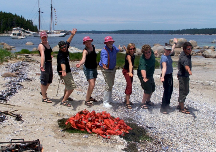 The lobster bake presented by the crew of Heritage