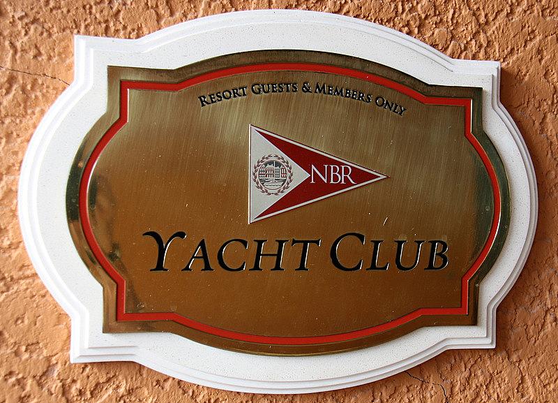 NBR Yacht club sinage
