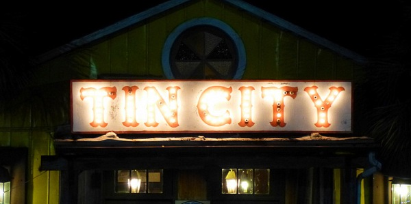 Tin City front sign